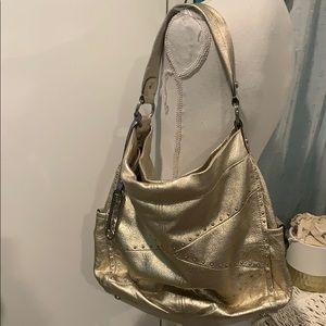 B. Makowsky  genuine leather metallic gold purse
